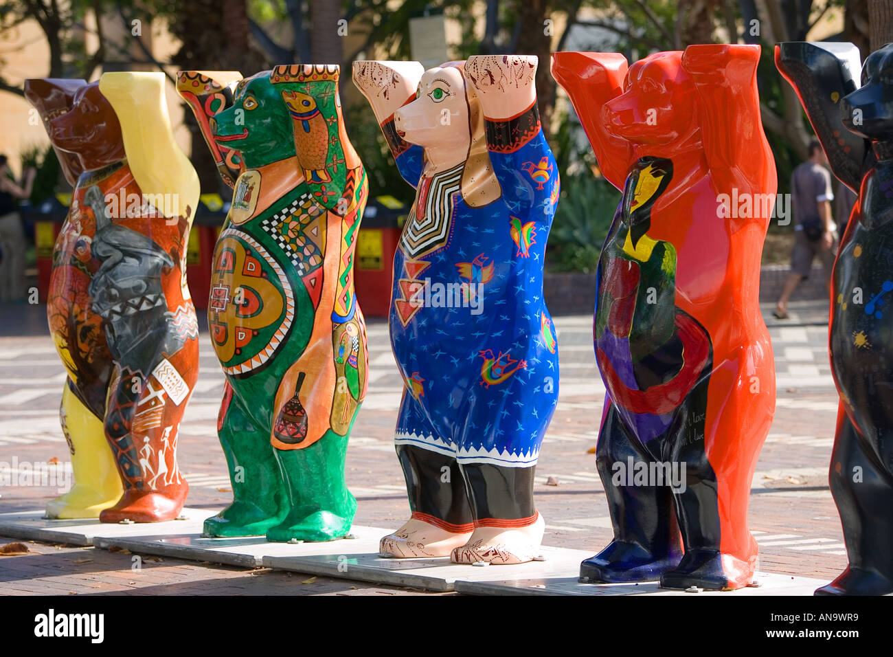 Unicef charity fundraising United Buddy Bears on display in Sydney New South Wales Australia Stock Photo