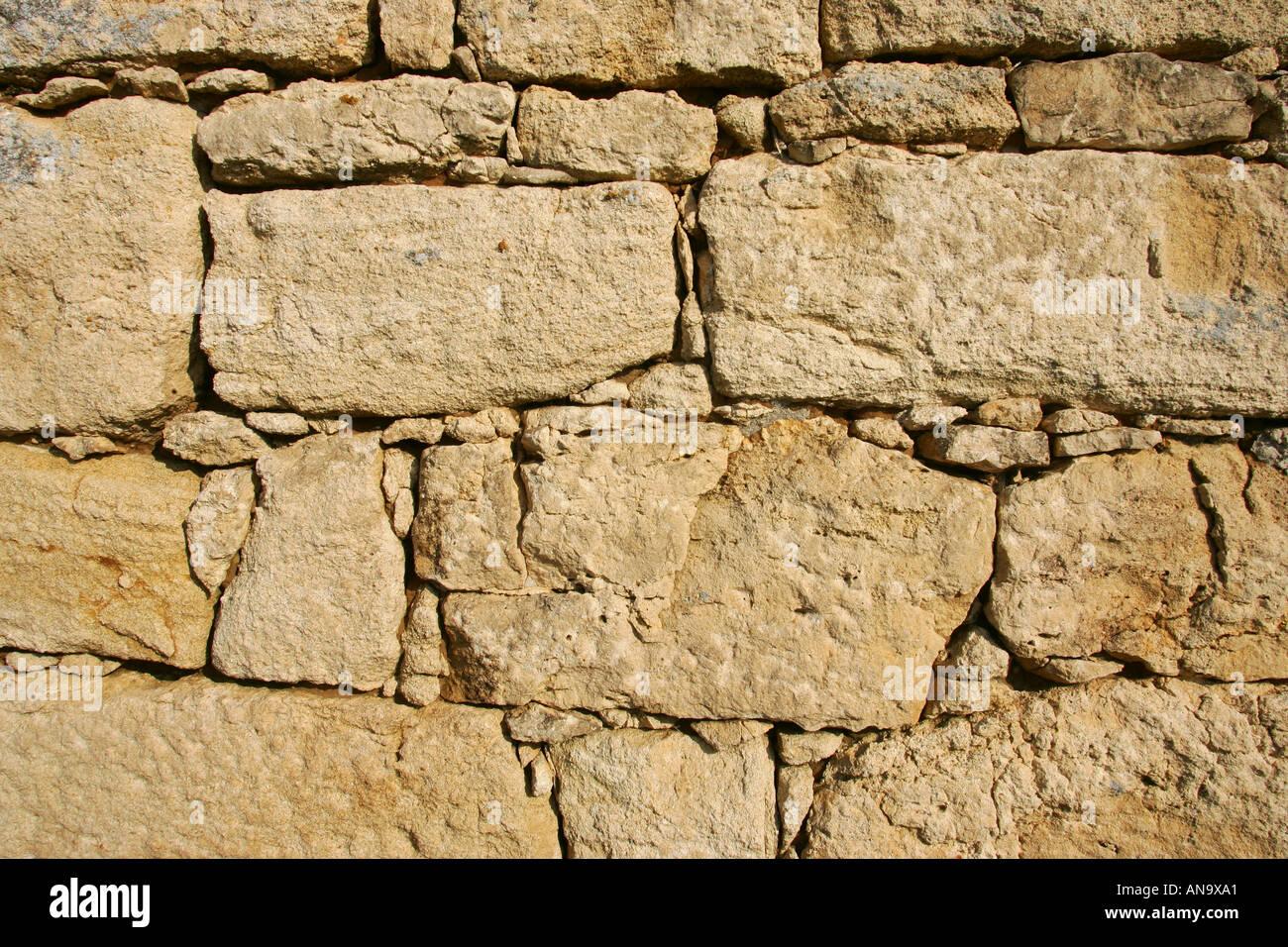 stone wall - Stock Image