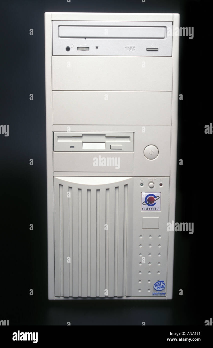 desktop computer - Stock Image