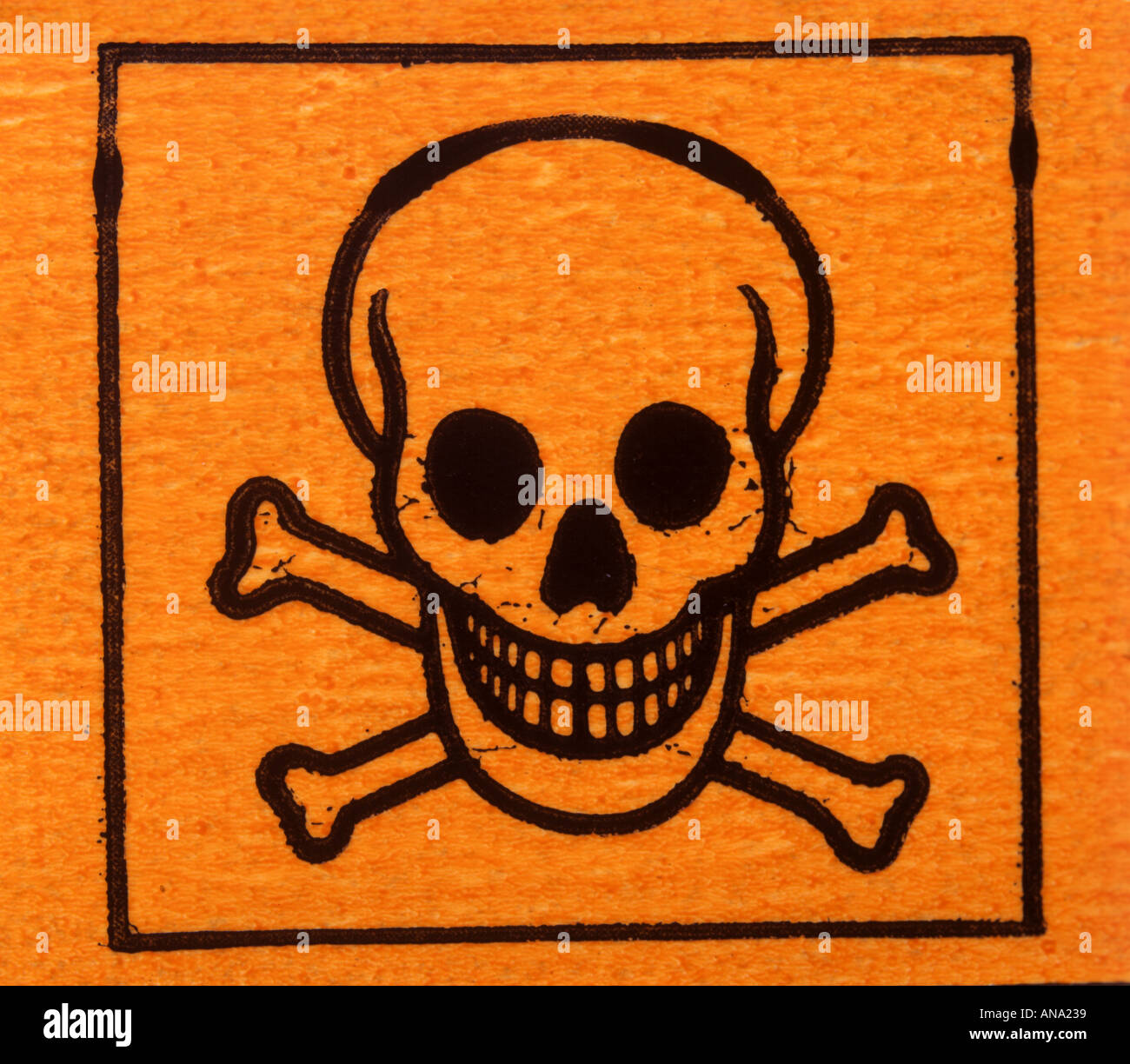 hazard symbol for toxic substance hazchem - Stock Image