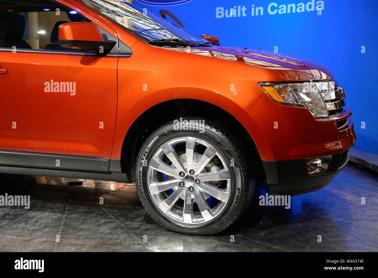 Orange Metallic Ford Edge Toronto International Autoshow Car Made In Canada
