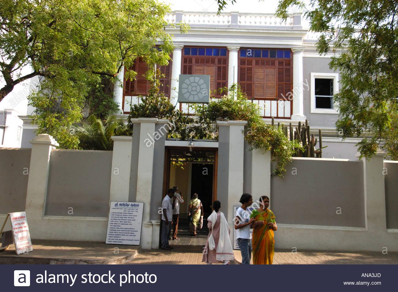 Sri Aurobindo Ashram Pondicherry Stock Photos Sri Aurobindo Ashram
