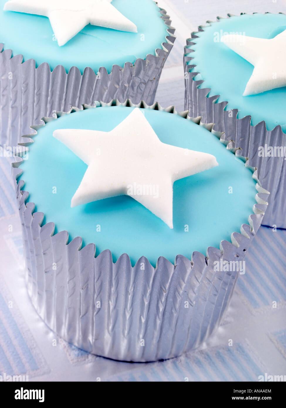 White Silver Star Birthday Cakes Stock Photos White Silver Star