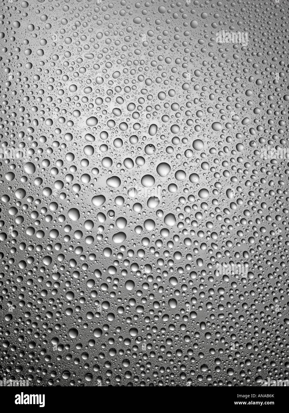 CONDENSATION ON GREY GLASS - Stock Image