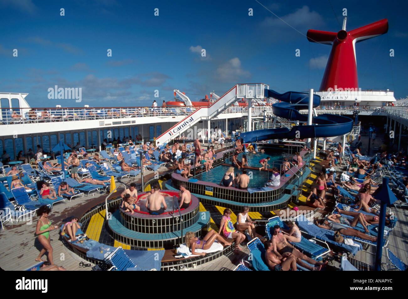 Miami Florida Atlantic Ocean Carnival Ecstasy Cruise Ship