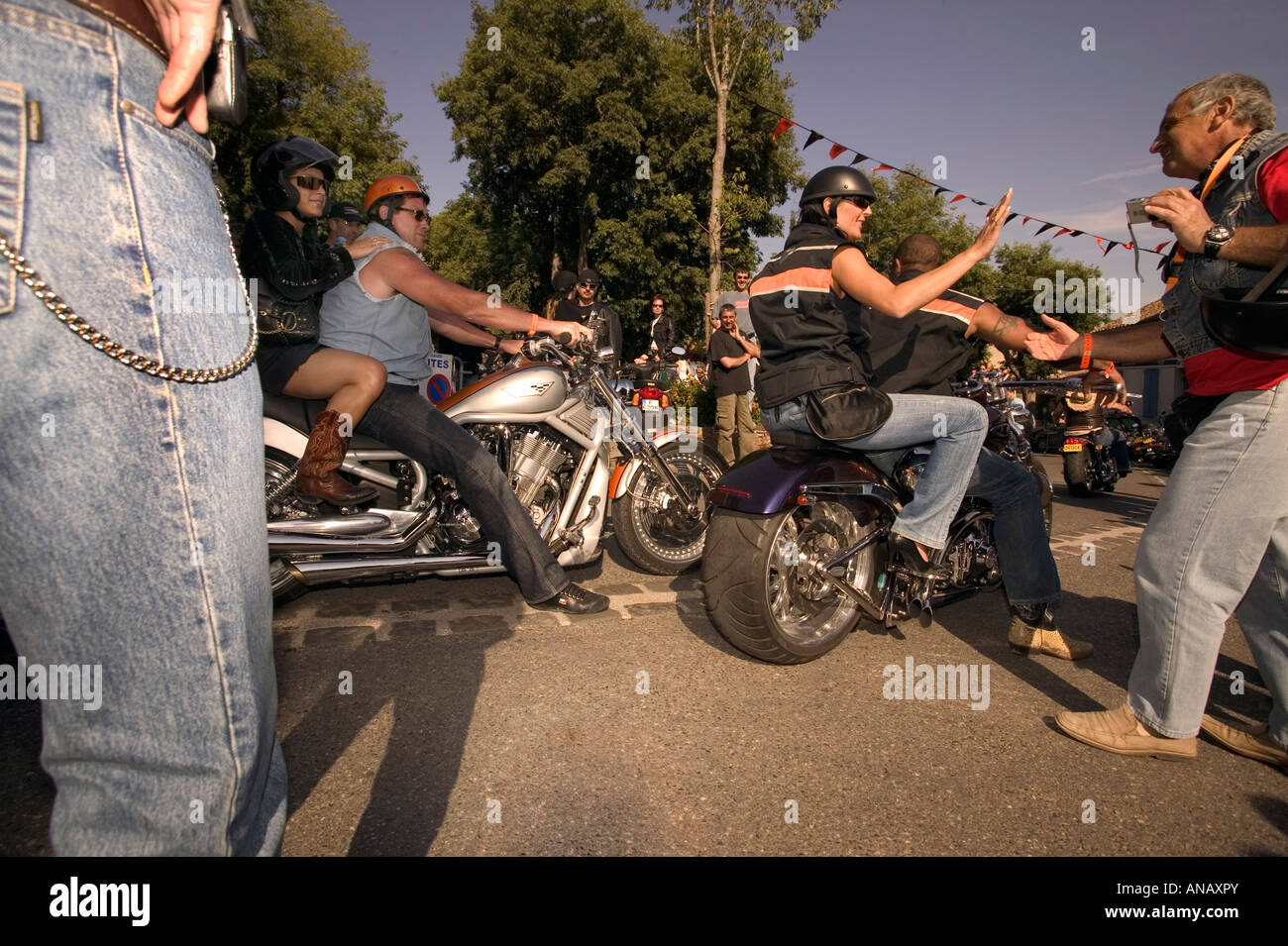 Group of bikers - Stock Image