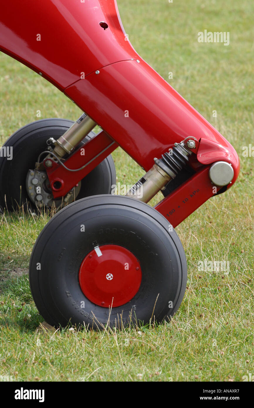 Aircraft undercarriage wheel - Stock Image