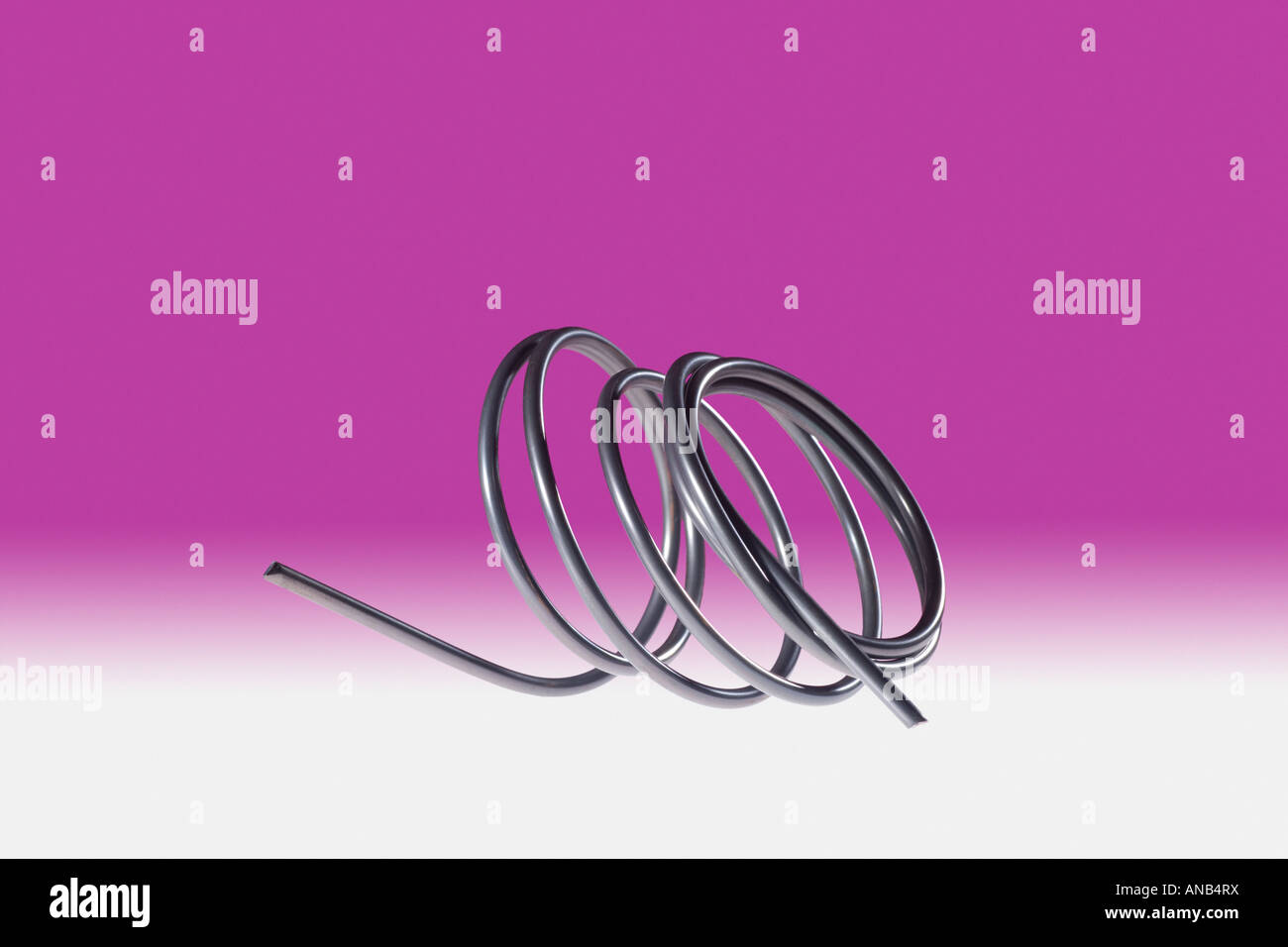 NiTi Metal Alloy Memory Metal - Stock Image