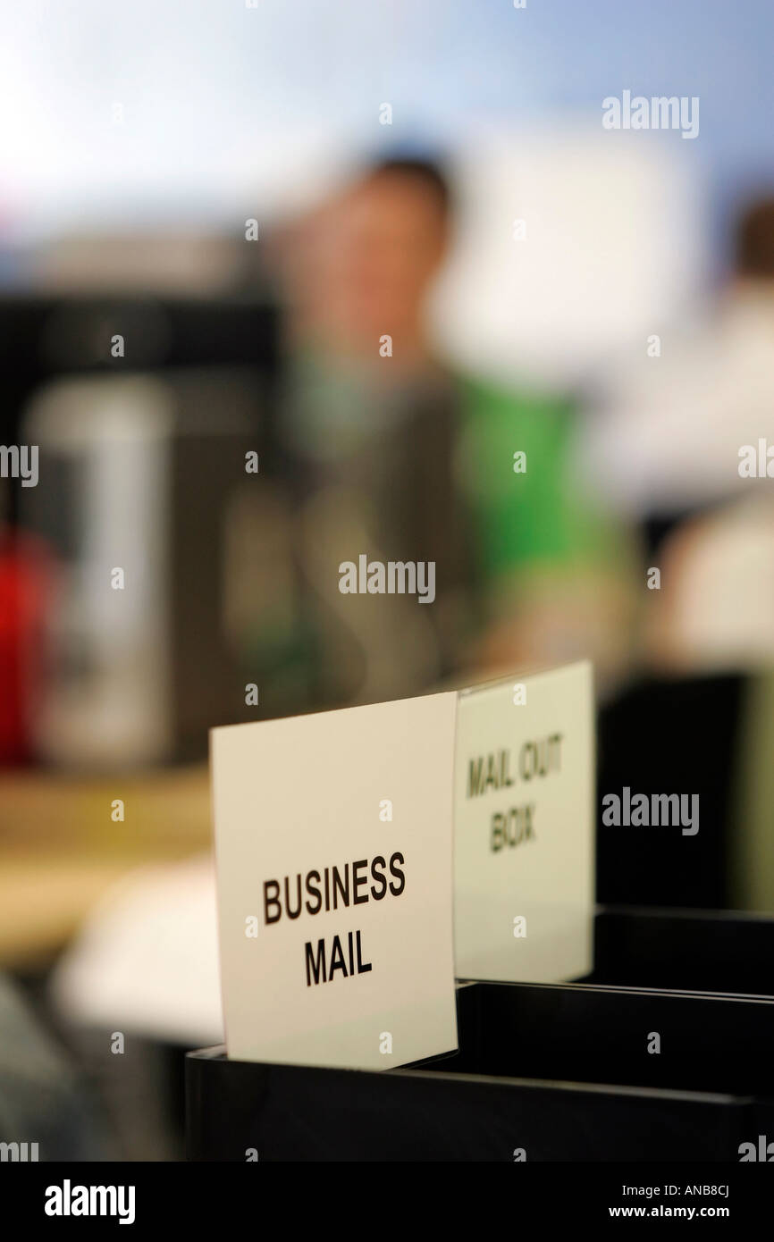 TWO MAILBOXES IN AN OFFICE. - Stock Image