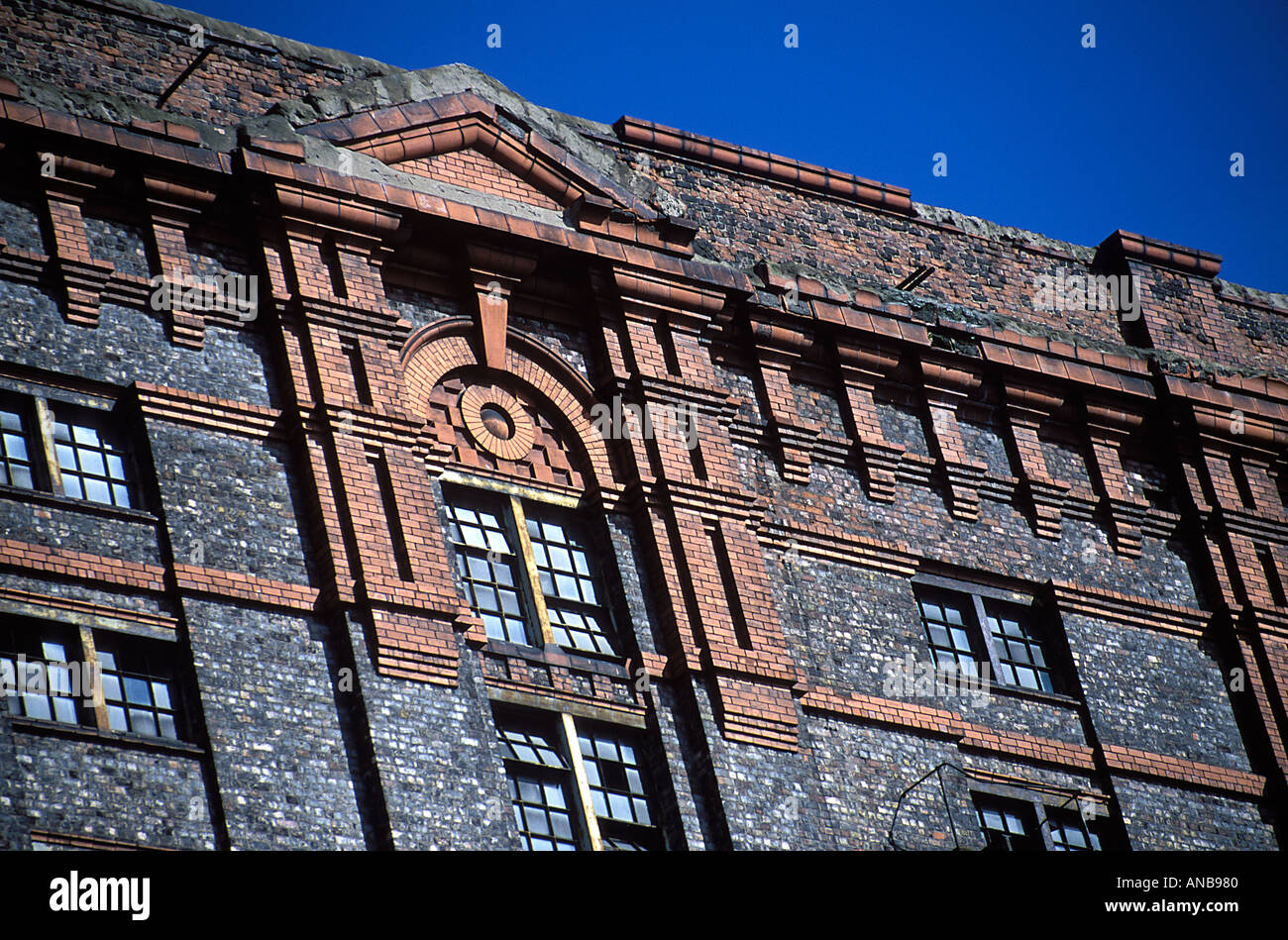 Close up shote of Stanley Dock Tobacco Warehouse Liverpool UK Stock Photo