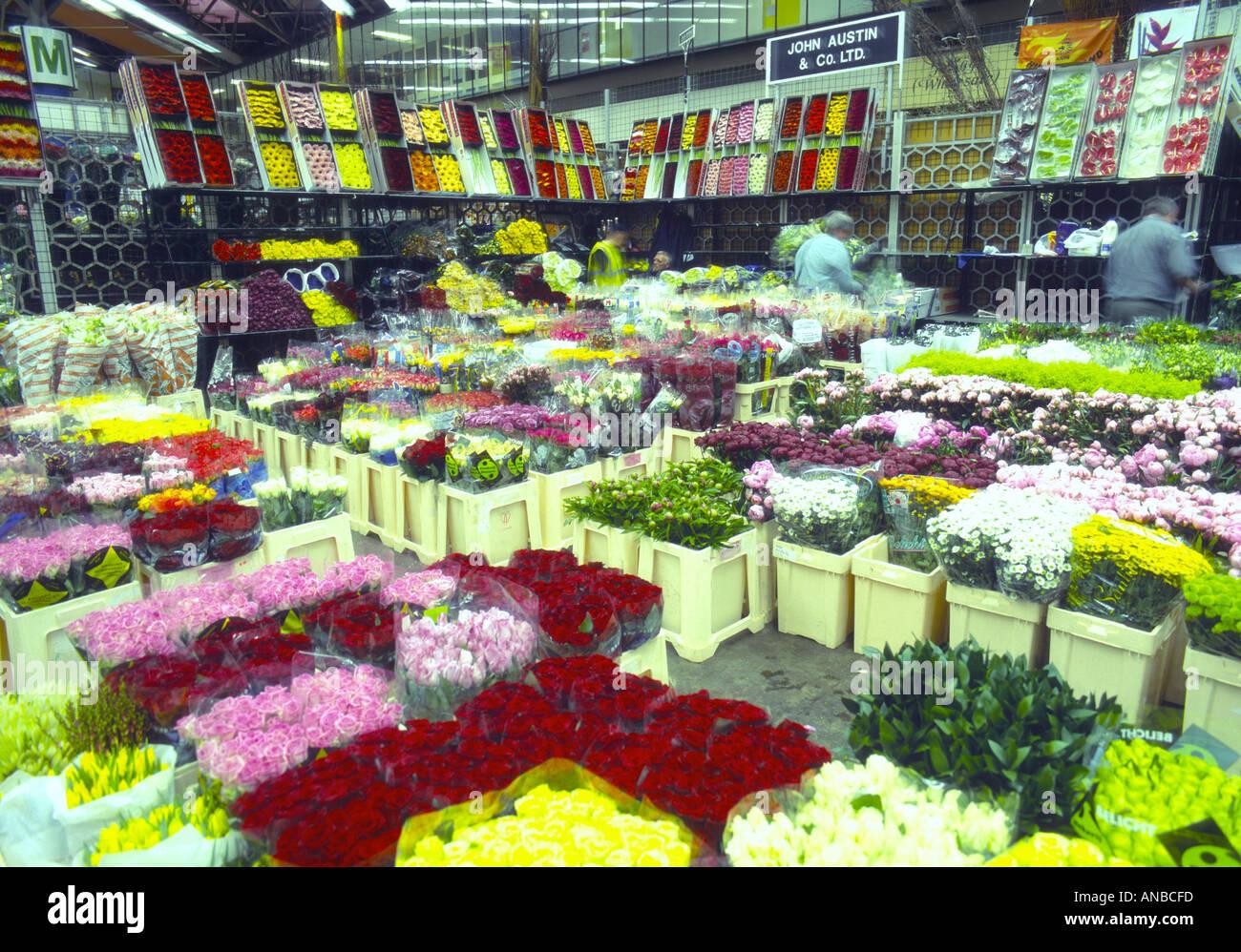 uk london new covent garden flower market 2001 stock photo: 1424636