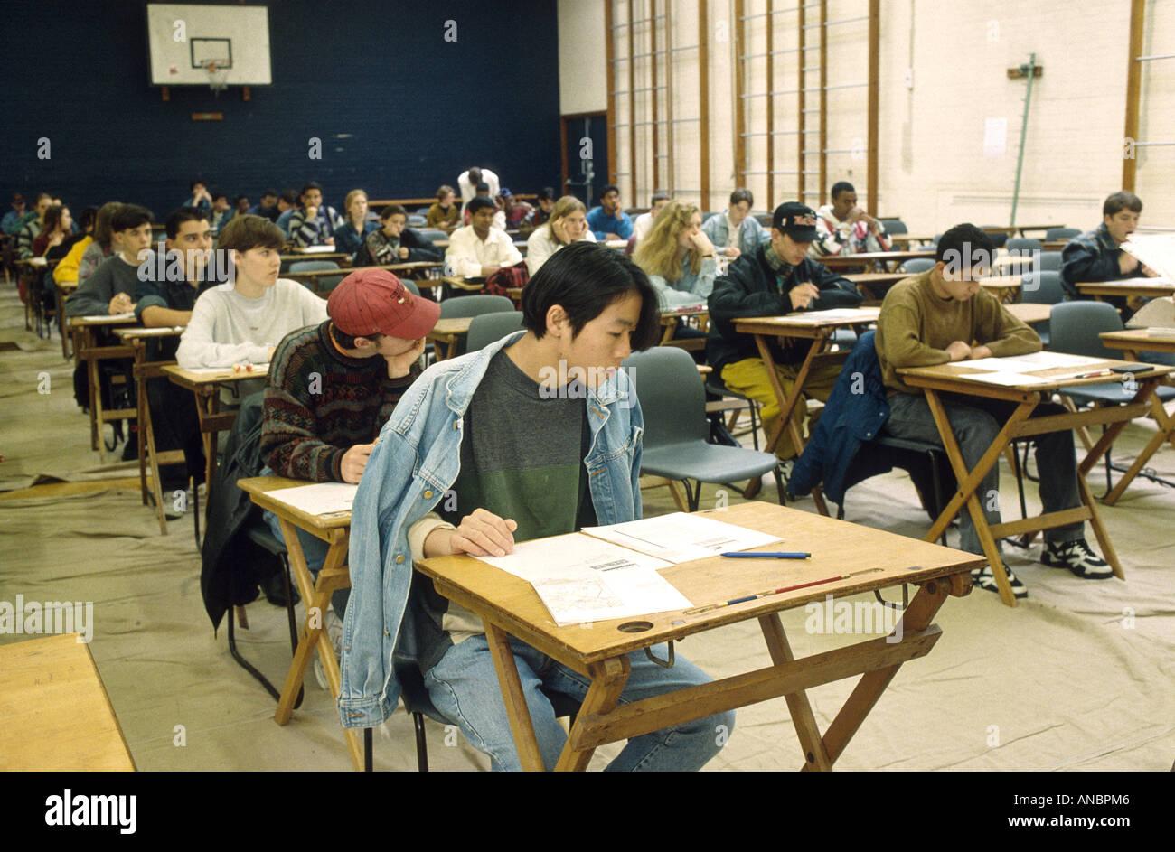 secondary school exams - Stock Image