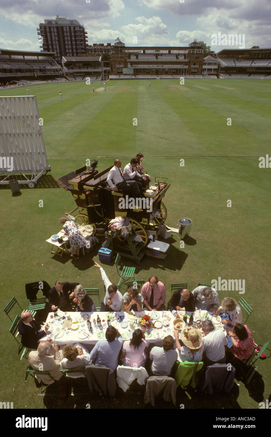 Lords ground St Johns Wood London England Eton v Harrow school cricket match. HOMER SYKES - Stock Image
