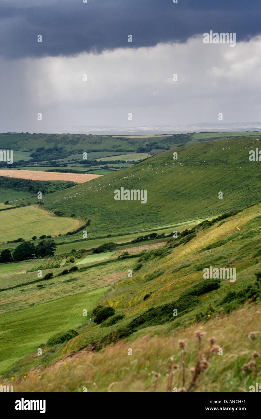 View from Swyre Head, near Kimmeridge, Dorset, England, UK - Stock Image
