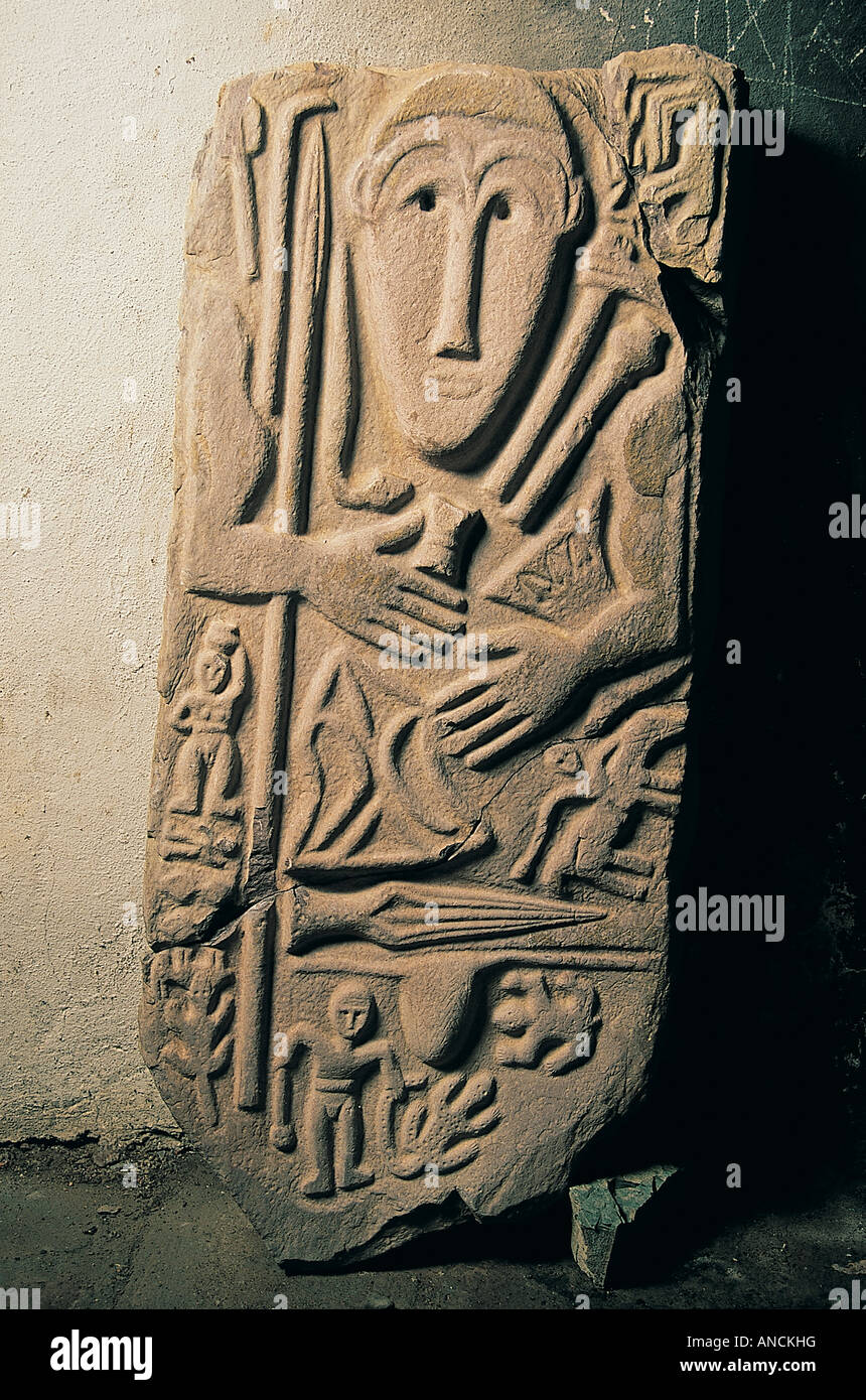 f3e9bc58b6 Kimmerian steles dates B . C . 6th century discovered in Hakkari Turkey . -  Stock