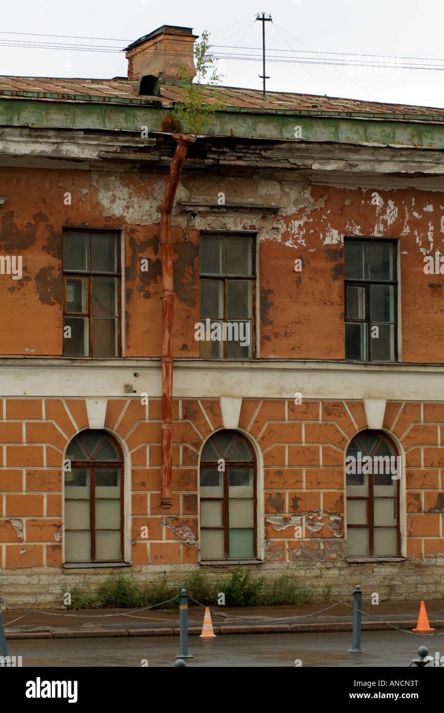 Building Property in State of Disrepair St Petersburg Russia - Stock Image