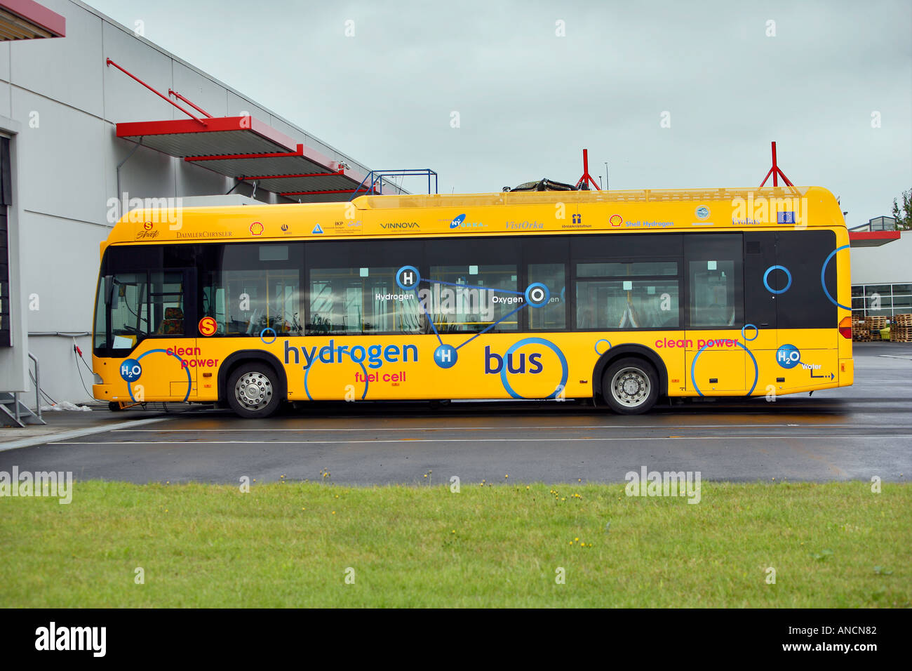 Hydrogen Powered Bus Iceland - Stock Image