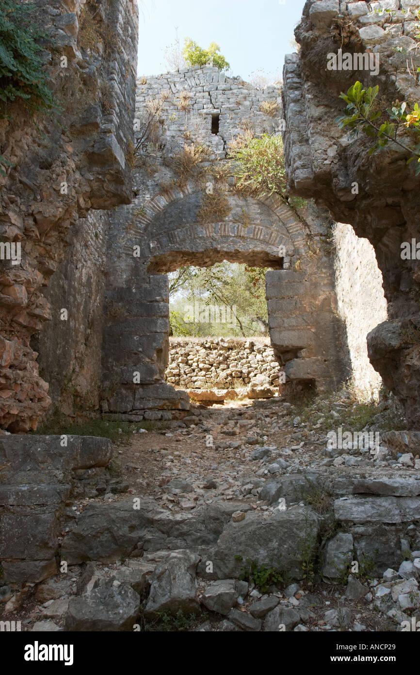 Byzantine fortress in Kassiopi. Corfu island, Greece. - Stock Image