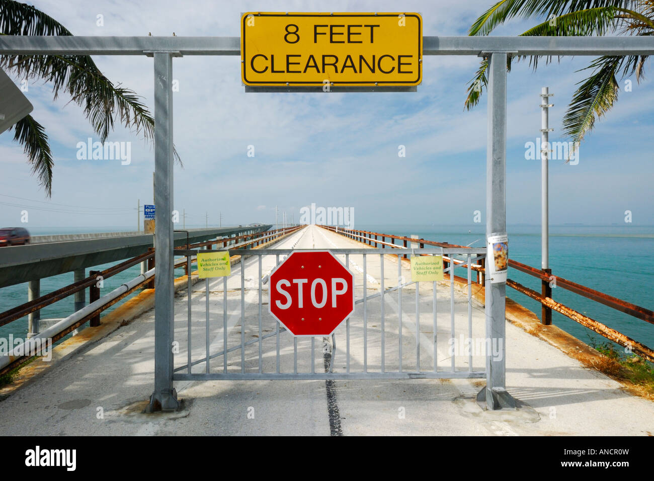 The old Seven Mile Bridge (no longer used and not open to traffic) connecting the Upper with the lower Florida Keys - Stock Image