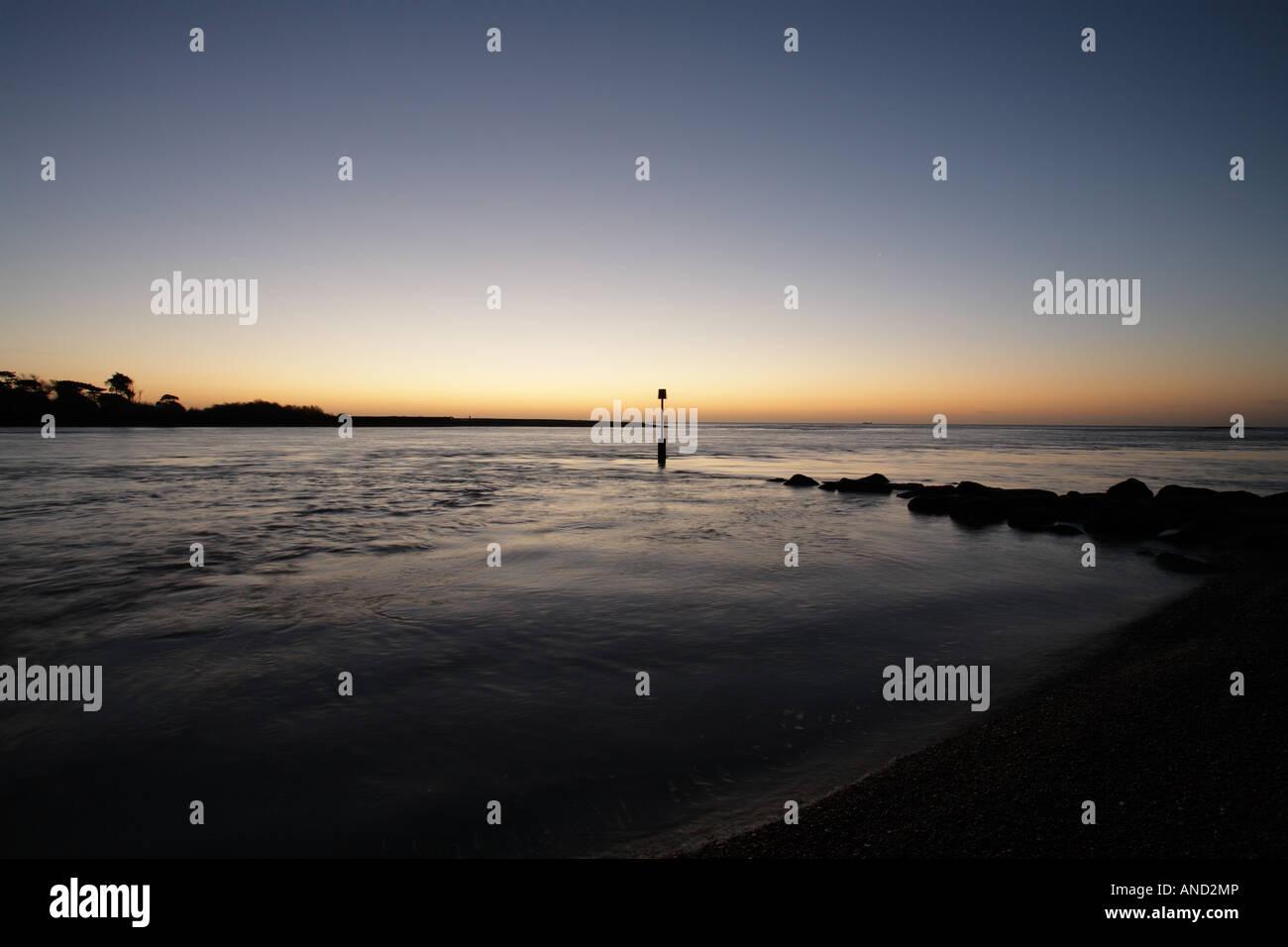 River Deben estuary. - Stock Image