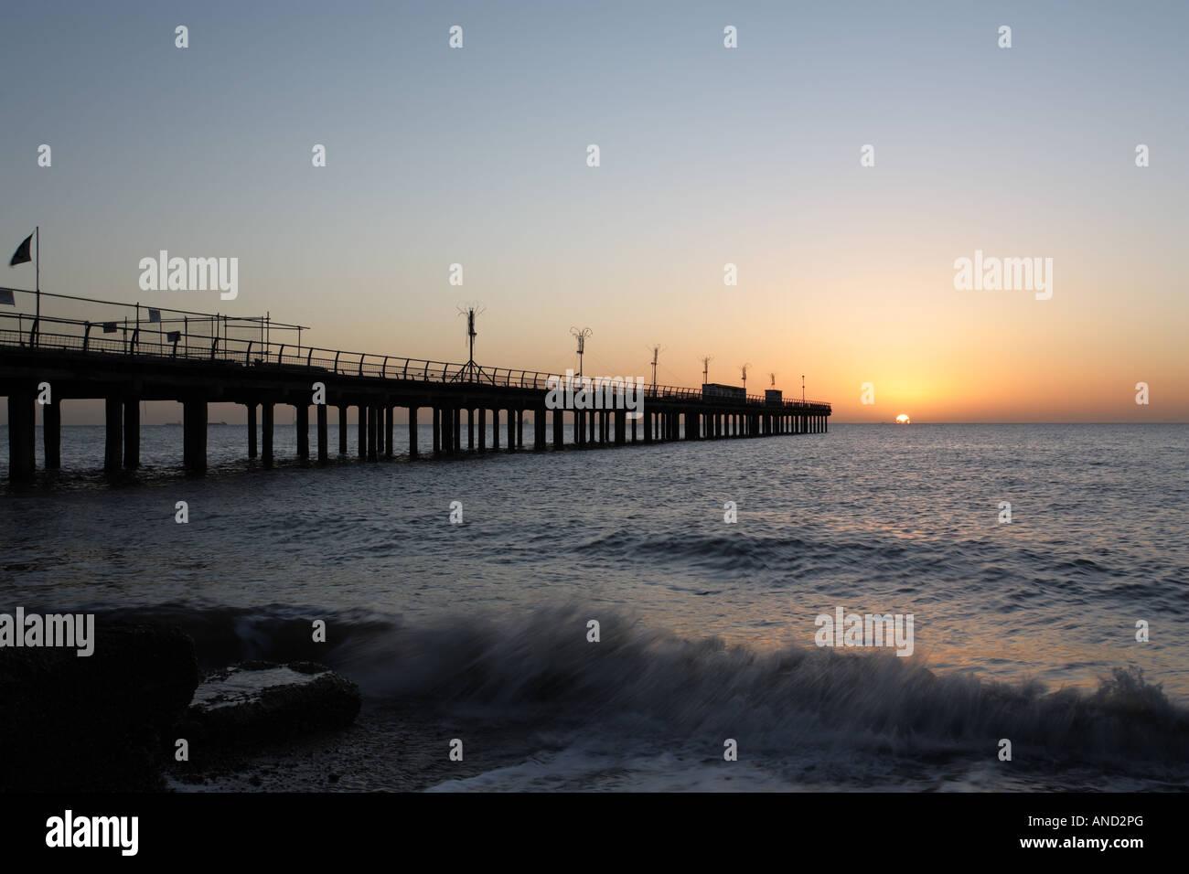 The Pier at Felixstowe. - Stock Image