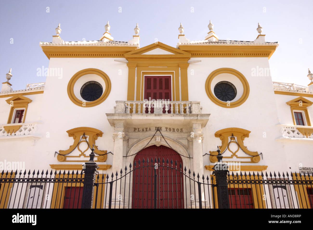 Plaza de toros de la Real Maestranza de Caballería Museo Taurino - Stock Image