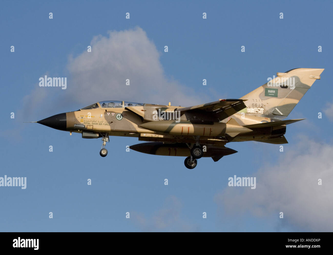 Royal Saudi Air Force Panavia Tornado IDS strike aircraft. Military aviation. - Stock Image