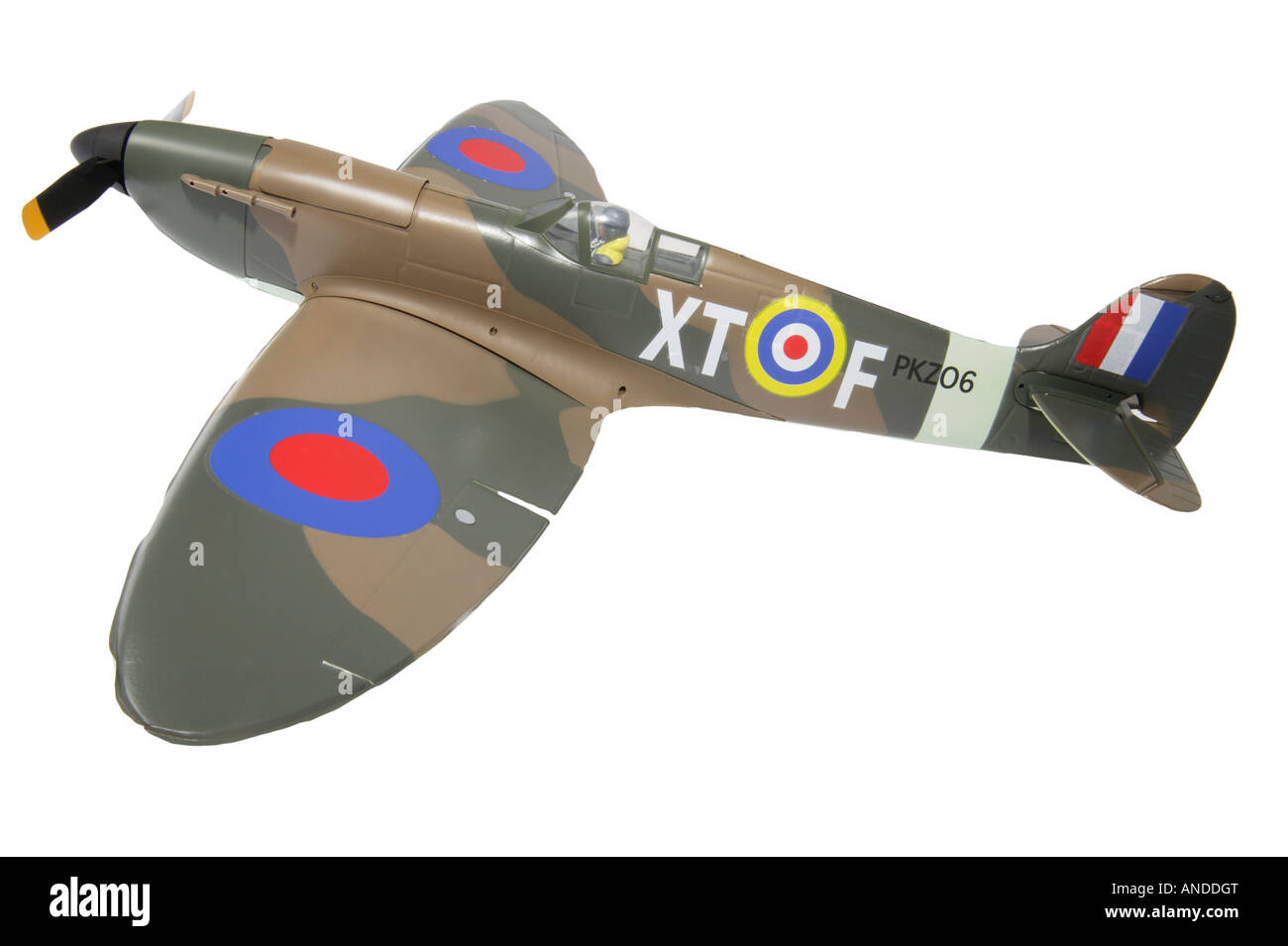 Remote controlled toy Spitfire airplane - Stock Image
