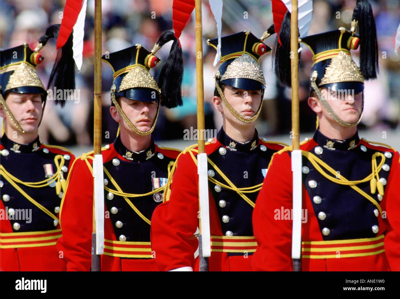 Royal Lancers Tidworth Hampshire United Kingdom - Stock Image