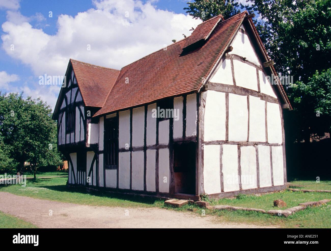 PRESERVED HOUSE AVONCROFT MUSEUM WORCESTERSHIRE ENGLAND UK - Stock Image