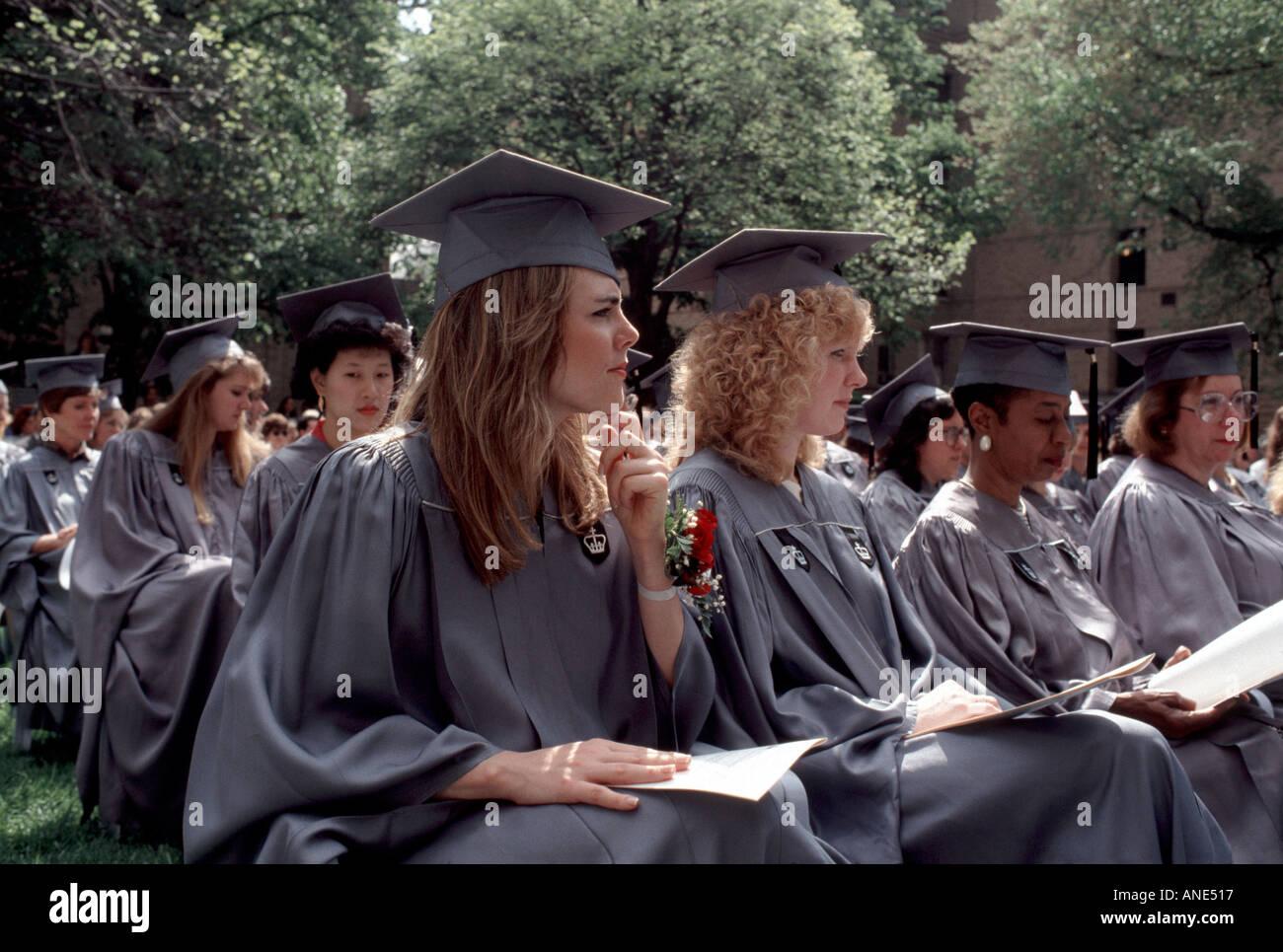 Barnard Graduation 2020.Barnard College Columbia University New Stock Photos
