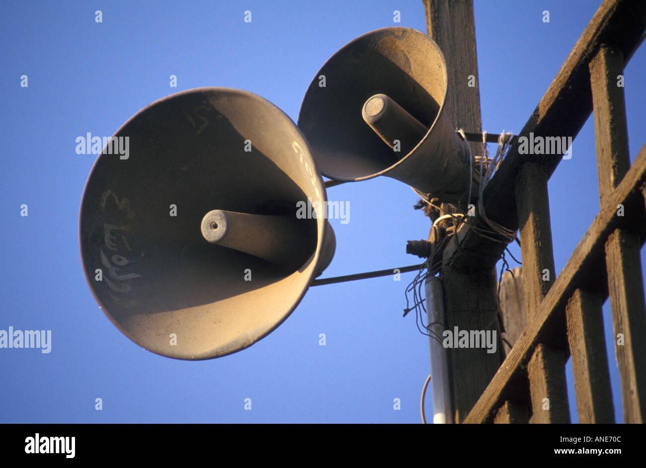 Mosque Loudspeakers in Islamic Cairo (Egypt) - Stock Image