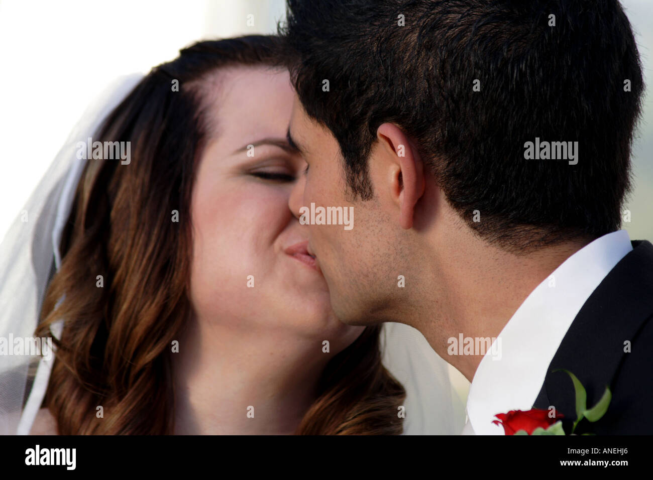 Now You May Kiss the Bride - Stock Image
