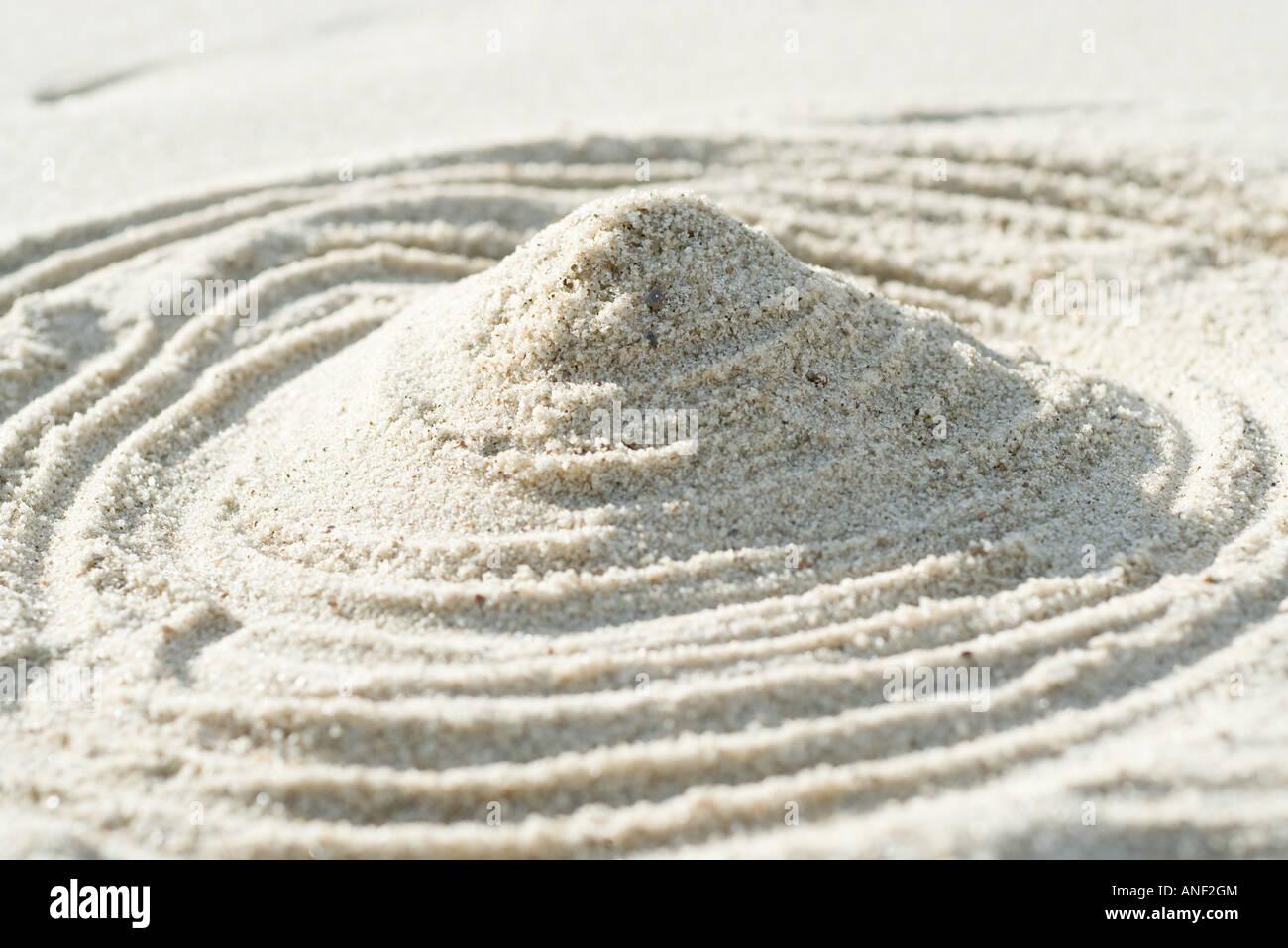 Mound of sand - Stock Image