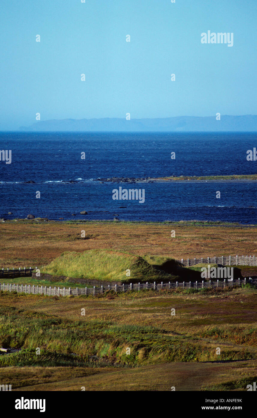 L'Anse aux Meadows National Historic Site, UNESCO world heritage Site, Newfoundland and Labrador, canada - Stock Image