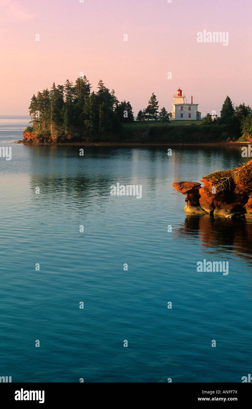 Rocky Point Lighthouse, Prince Edward Island, Canada - Stock Image