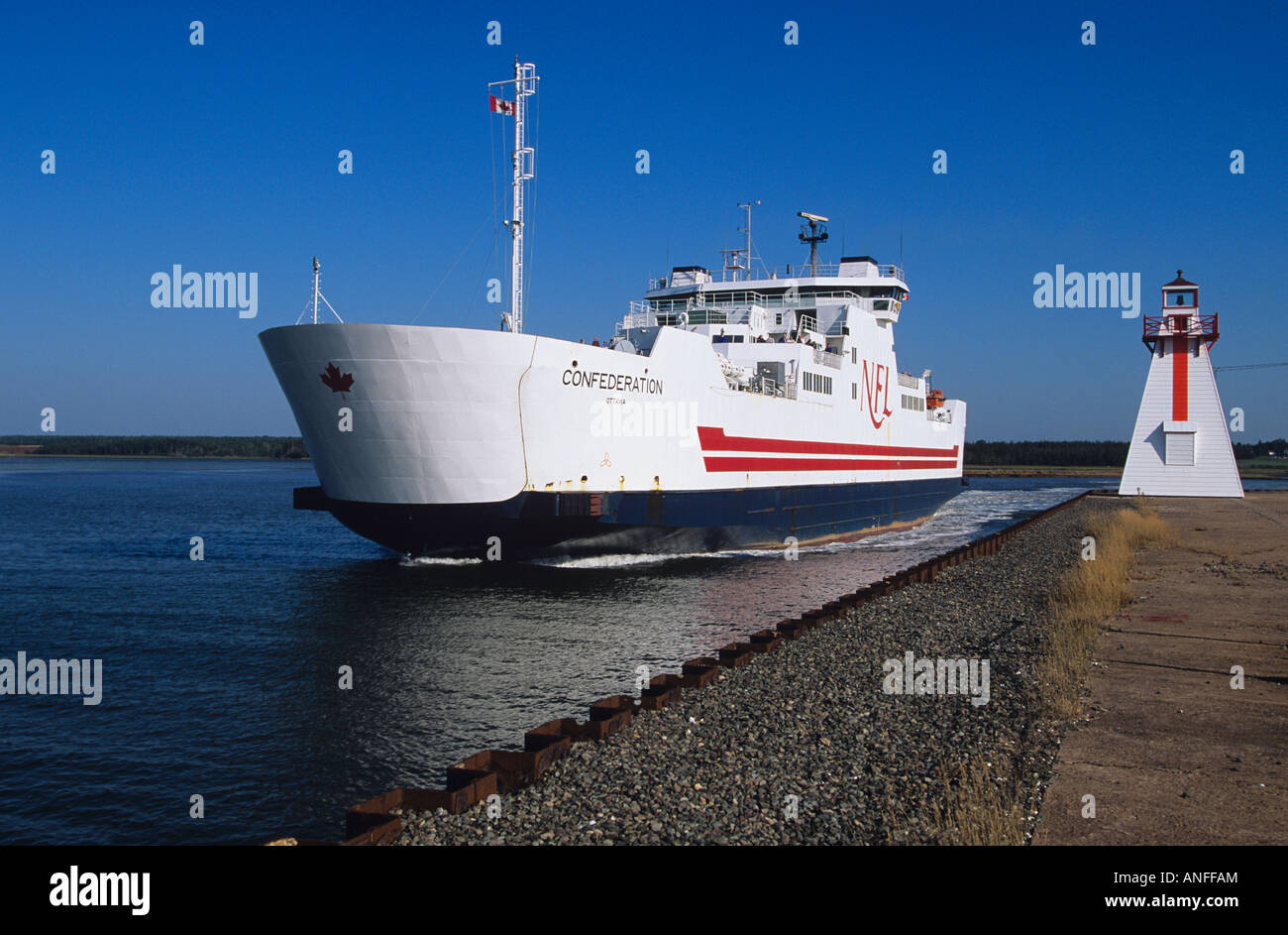 Northumberland Ferry boat, Wood Islands, Prince Edward Island, Canada - Stock Image
