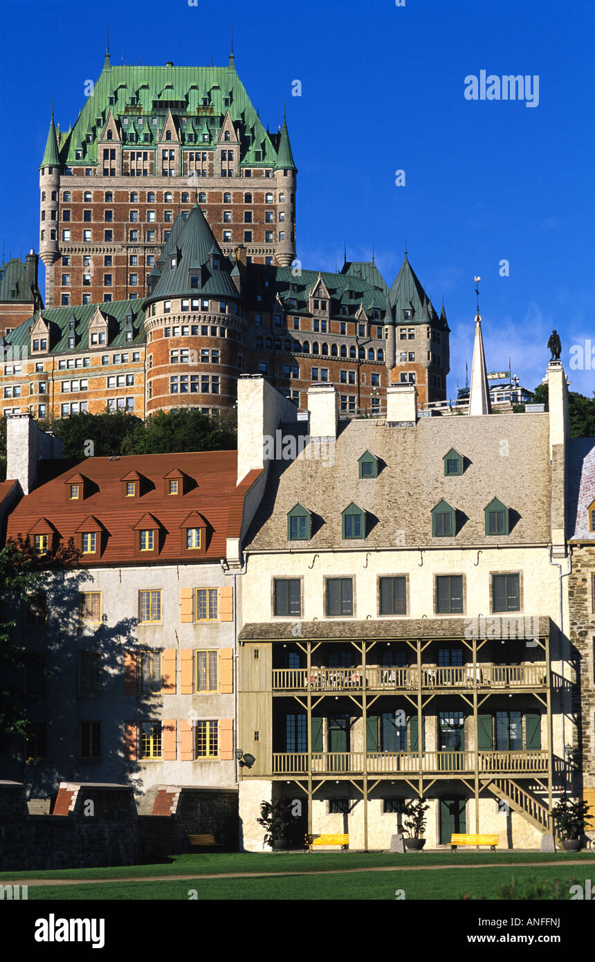 Chateau Frontenac, Historic Lower Town, Quebec City, Canada - Stock Image