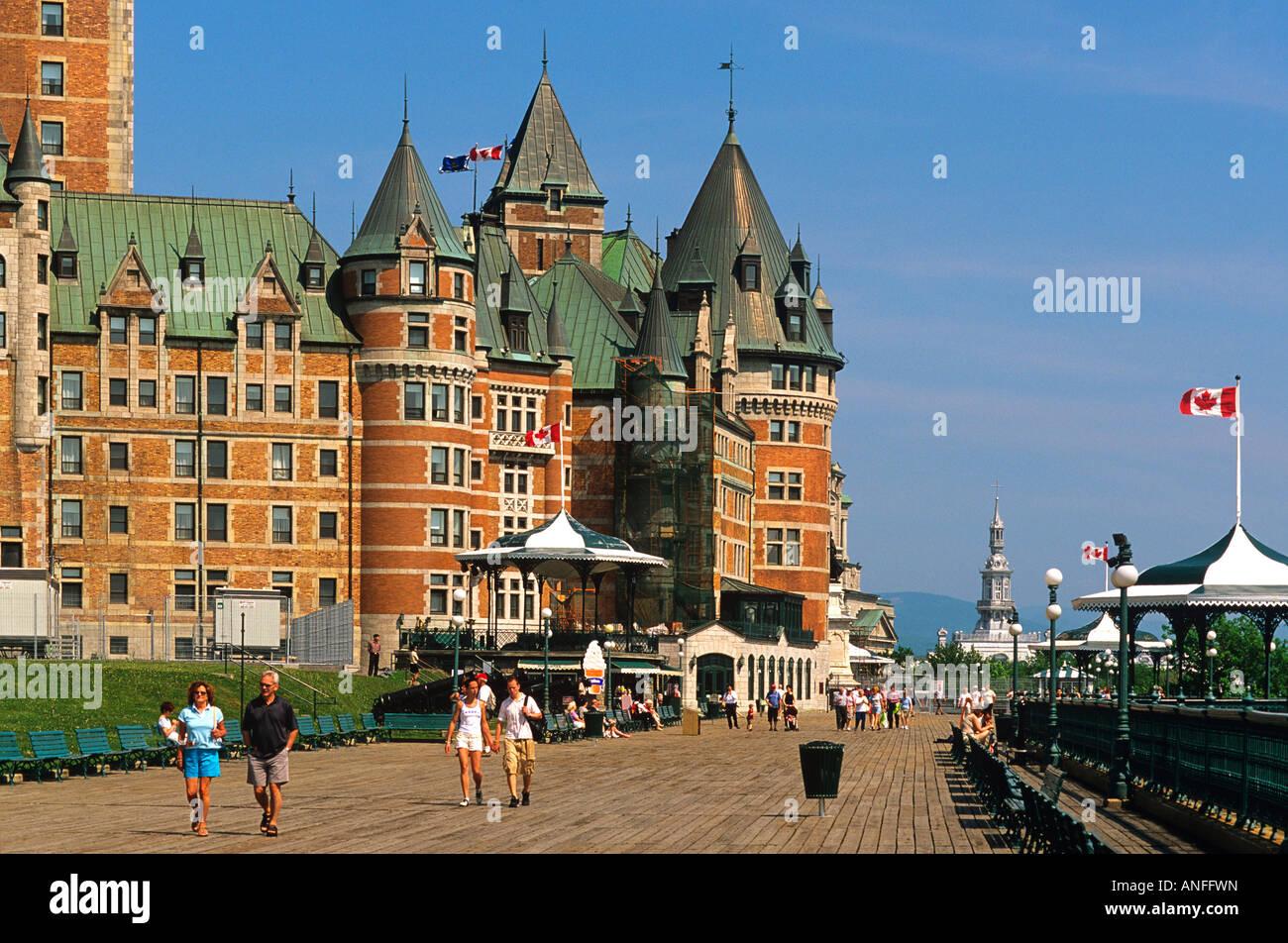 Dufferin Terrace, Le Chateau Frontenac, Quebec City, Quebec, Canada - Stock Image