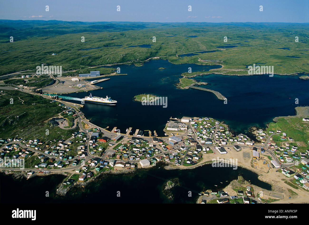 port aux basques  newfoundland  canada stock photo