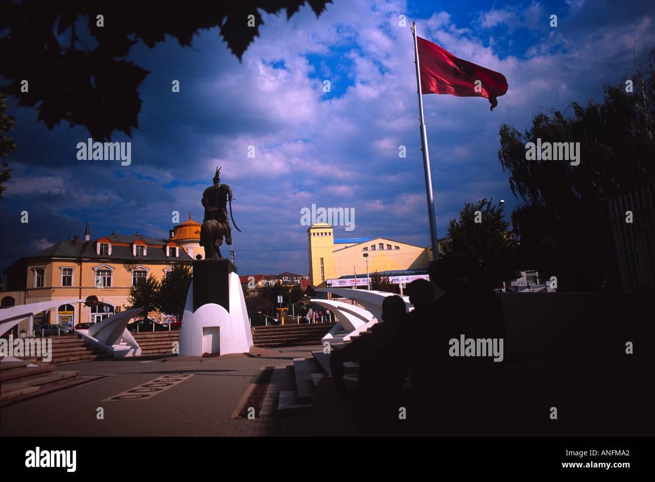 a square in prishtina, kosovo Stock Photo