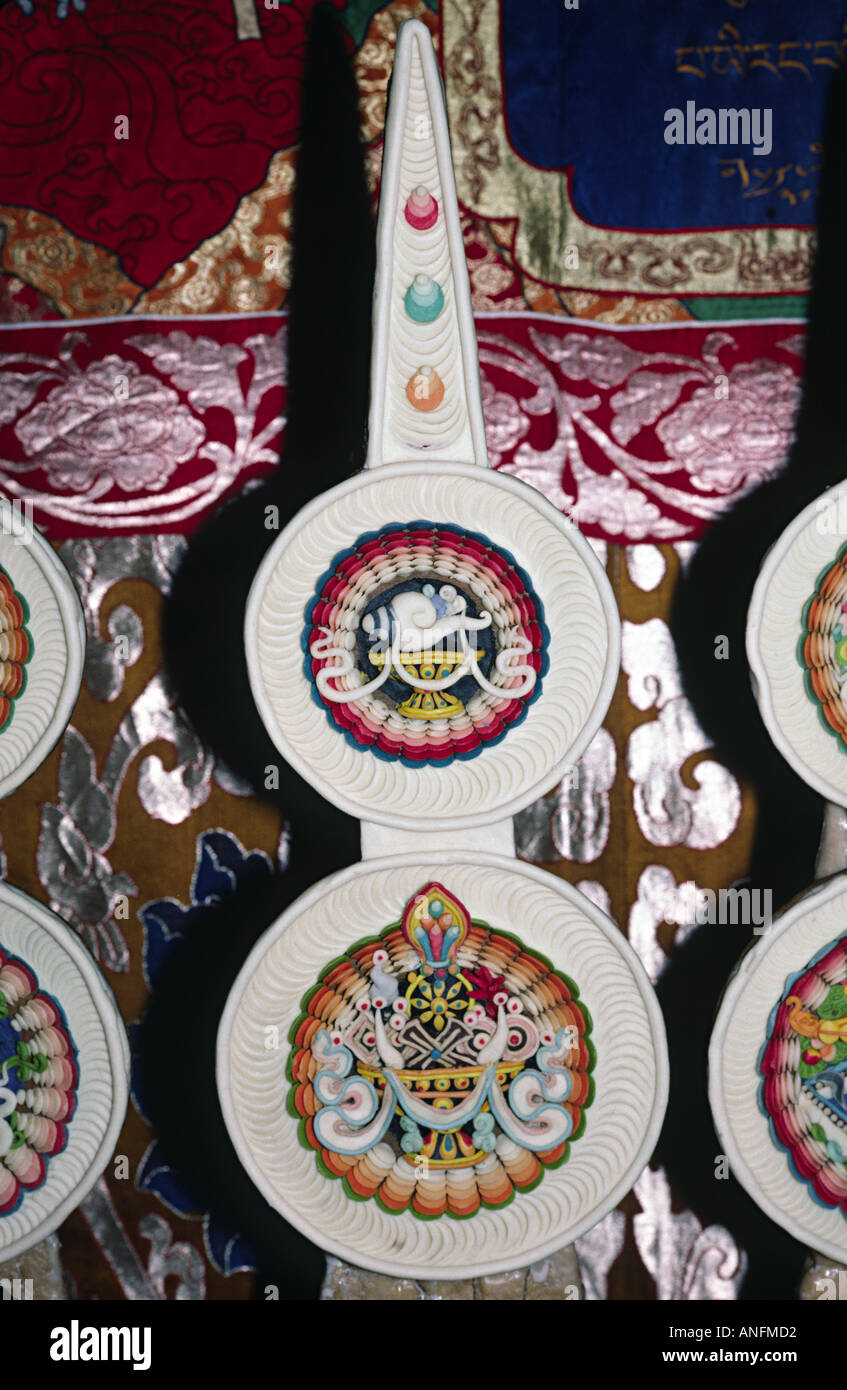 Tibetan Buddhist butter sculptures. India - Stock Image