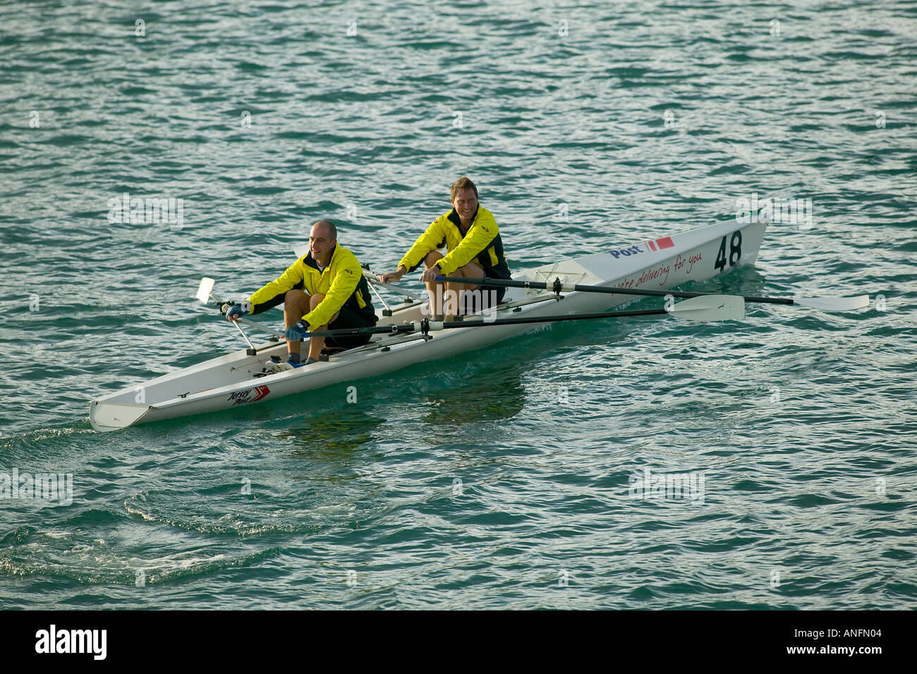 rowing club, jersey, channel islands - Stock Image