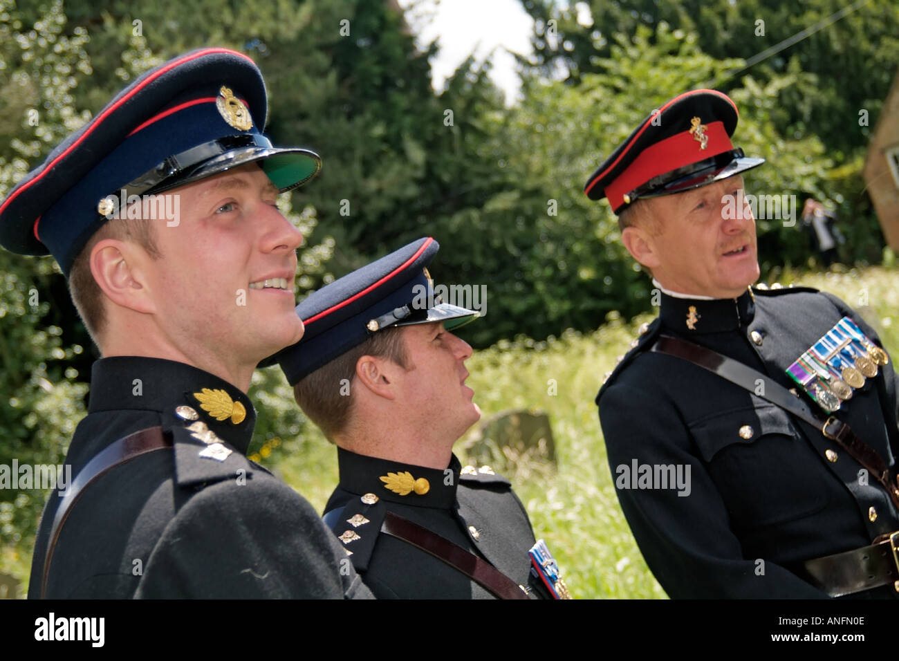 Army officers dress uniform - Stock Image