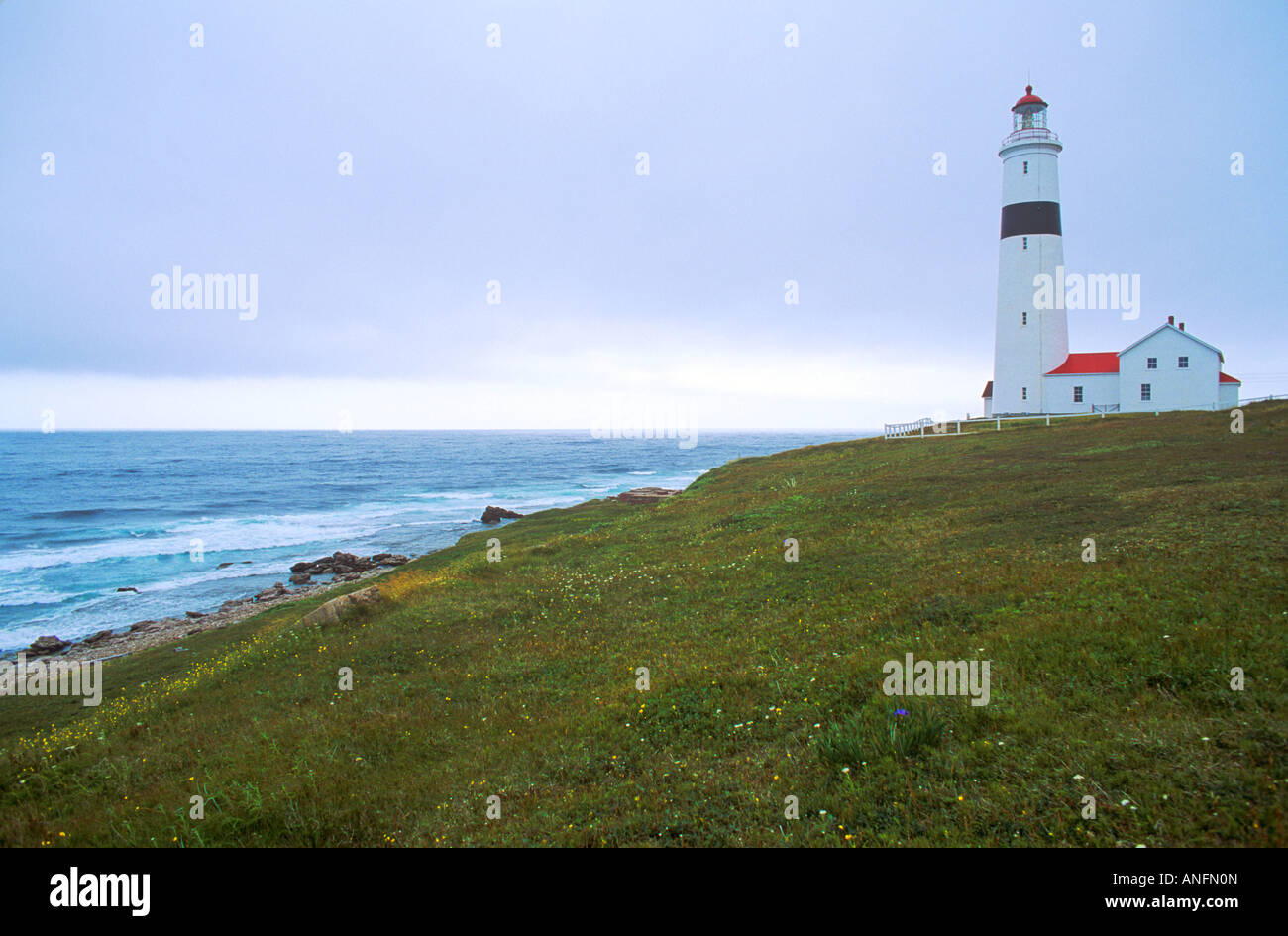 Point Amour Lighthouse, Newfoundland and Labrador, Canada. - Stock Image