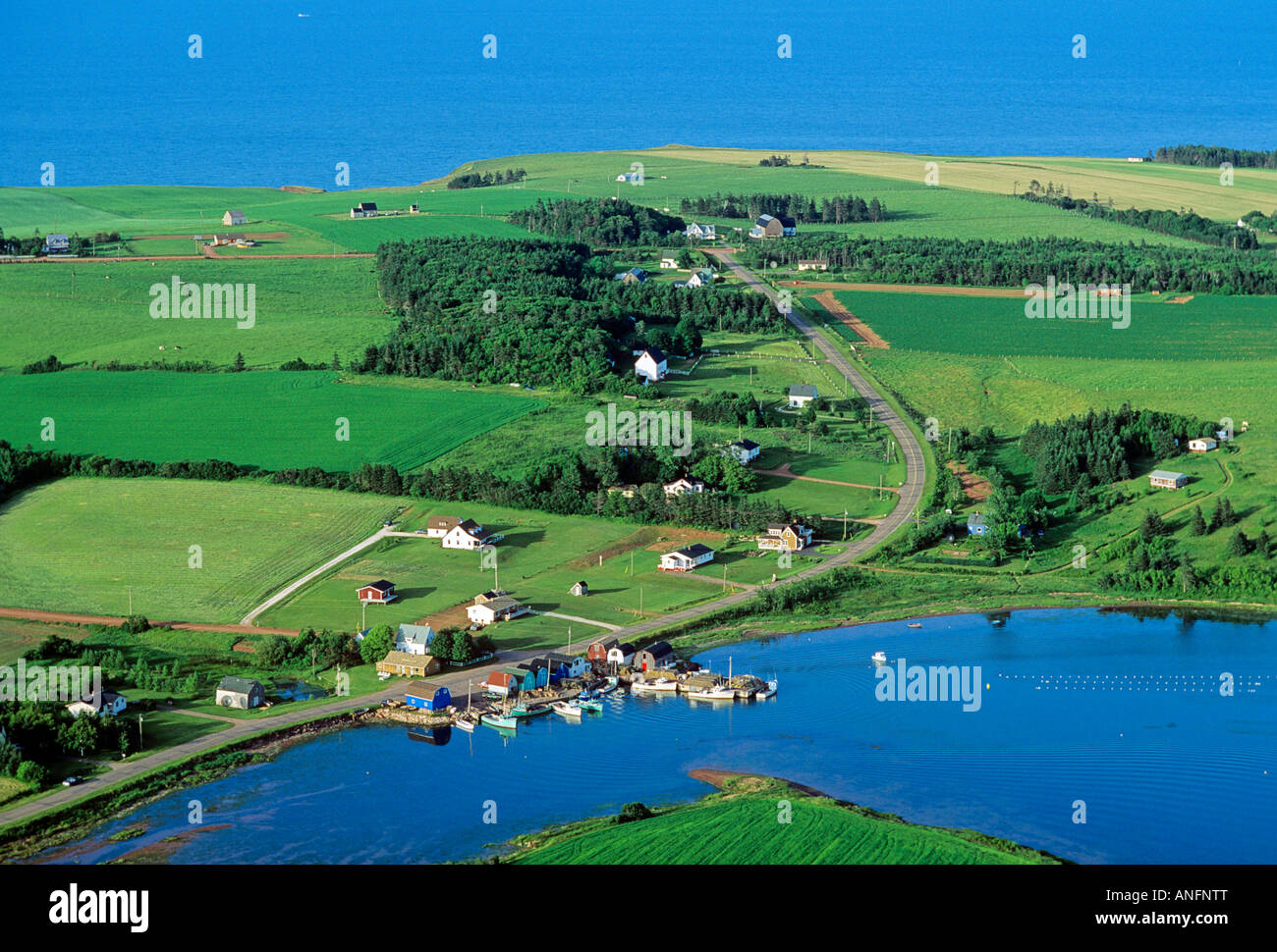Aerial of French River, Prince Edward Island, Canada. - Stock Image