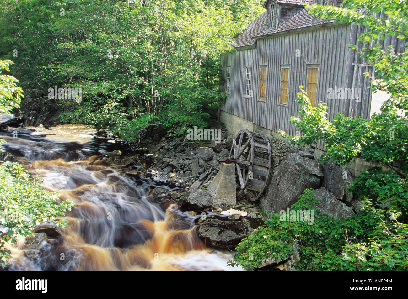 old mill, Sable River, Nova Scotia, Canada. - Stock Image