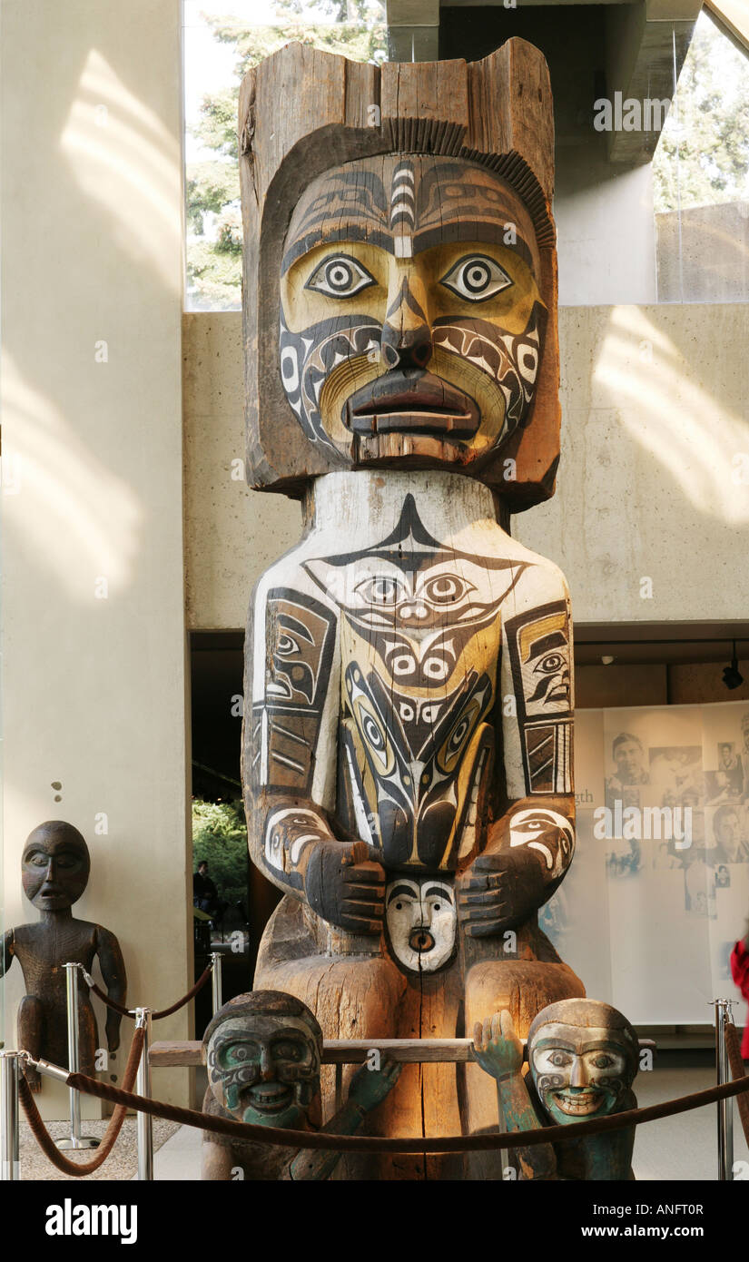 Haida Art gallery at the Museum of Anthropology located on The University of British Columbia, Vancouver, British - Stock Image
