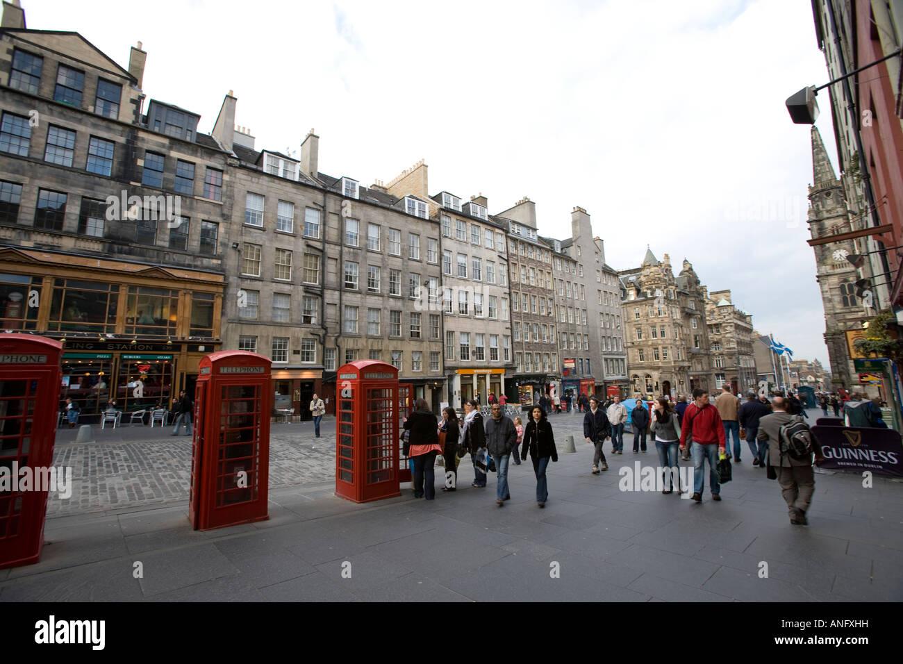 royal mile cannongate in Edinburgh Stock Photo