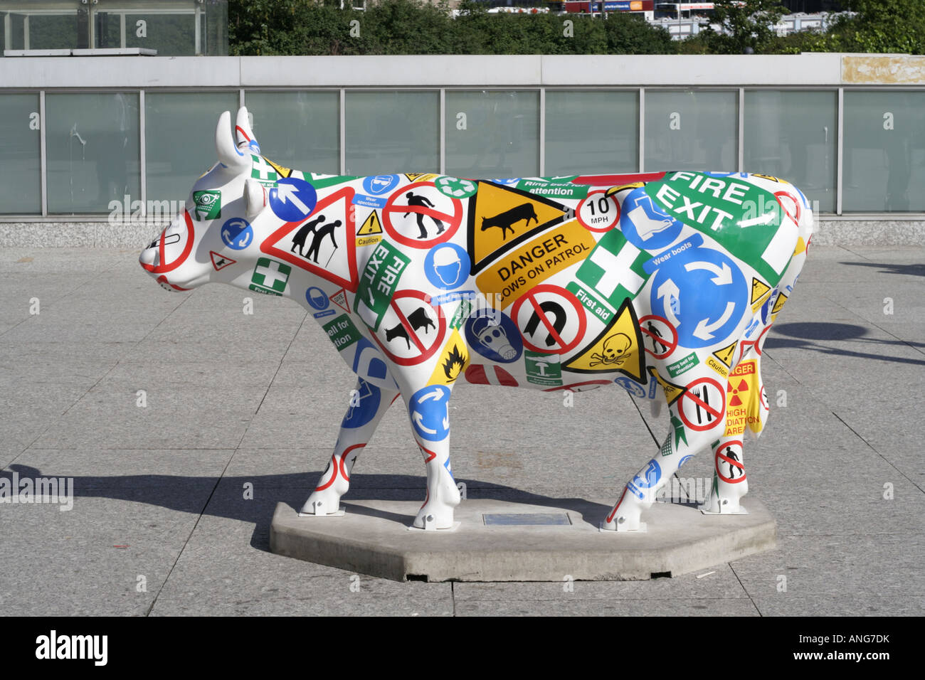 decorative advertising cow edinburgh city centre scotland uk - Stock Image